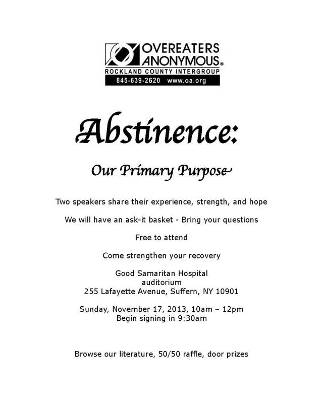 Fall 2013 Abstinence Workshop